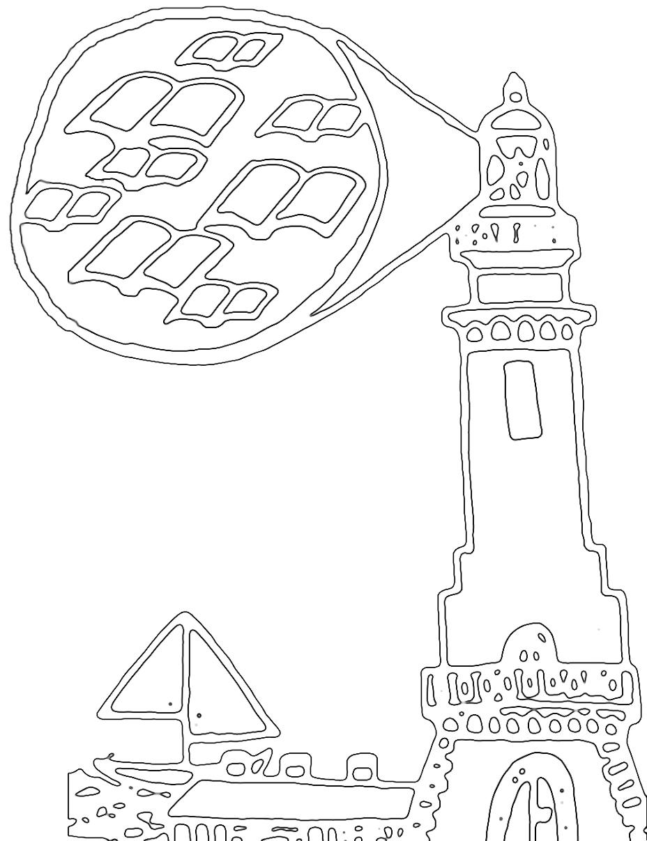 Faro disegnato da Flavia C., vincitrice del concorso a.s. 2015/16